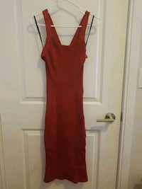 Red Bebe Long Dress