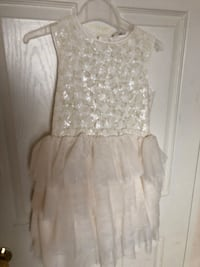 Brand New - H&M white sequined girl dress Size 8  Mississauga, L5R 3R4