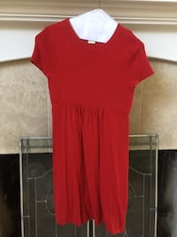 red scoop-neck cap-sleeved dress Indianapolis, 46220
