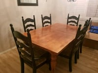 MUST GO....  wooden table with 7 chairs San Jacinto, 92582