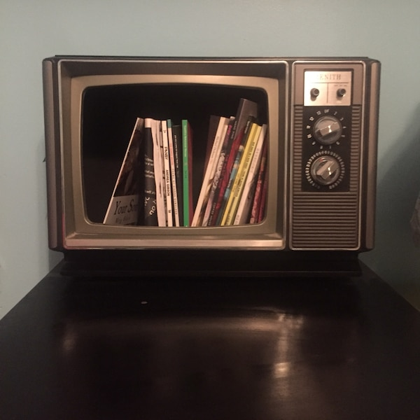 Handmade Old Fashioned TV Bookcase