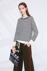Warm & Sweet Pullover Top Wear with Zebra-stripped Pattern TORONTO