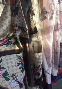 brown and white floral print dress 228 mi