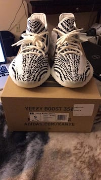 white-and-black Adidas Yeezy Boost 350 Alexandria, 22304