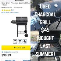 black charcoal grill collage with text overlay Tulsa, 74105