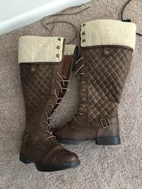 Knee high brown boots size 9