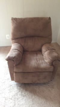 brown leather sofa chair with ottoman Ellicott City