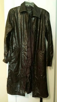 Brown pleather trenchcoat with belt Large $1