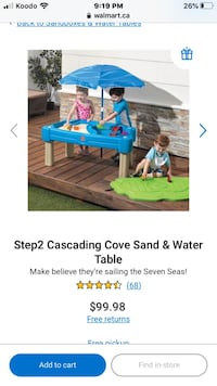 Step 2 cascading cove sand & water table