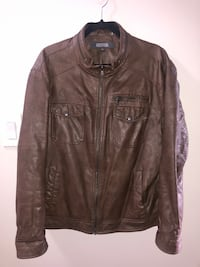 GUC Kenneth Cole Reaction Men's Faux Leather Jacket (XL)