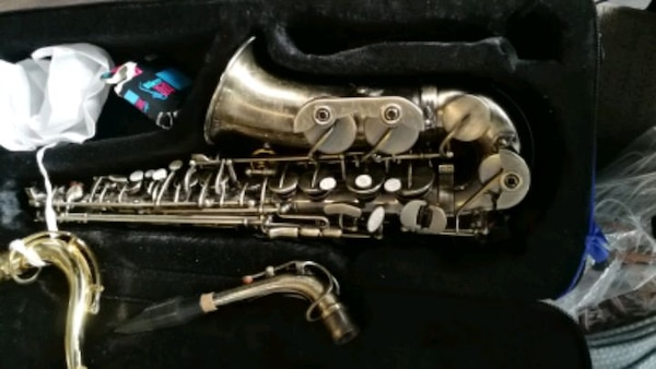 Saxaphone with lots of accessories Roy Benson ab5d708e-077b-4be2-9047-585b3bef41ea