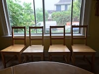 Wooden dining room chairs Vancouver, V5V