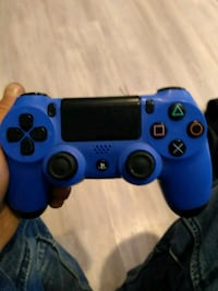 blue and black Sony PS4 controller Edmonton, T5W 3J6