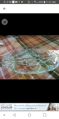 Crystal 15 x15 serving dish Laval, H7M 4A2