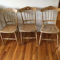 Vintage wood caned chairs Arlington, 22207