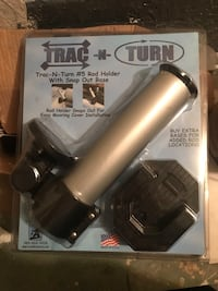 Trac n turn fishing rod holders