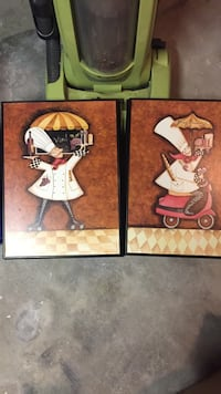 Two chef paintings