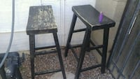 Two Quality Wooden Stools 28in Peoria, 85381