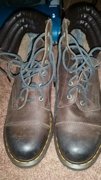 pair of brown leather work boots Pittsburgh