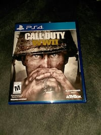 ww2 PS4 game opened but never use on console