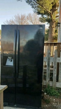 black side by side refrigerator with dispenser Springfield