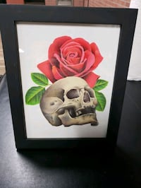 Skull and rose art