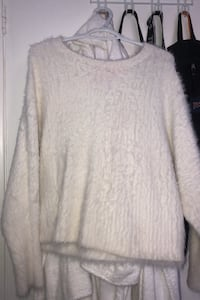 fuzzy white sweater Mississauga, L5C 1L1