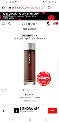 Amore Pacific Single Extract Essence Markham, L3R 0G6