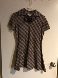 Women's brown plaid collared mini dress size small