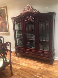 """Victorian chippendale dining china cabinet 58""""wide Beaconsfield, H9W 2M1"""