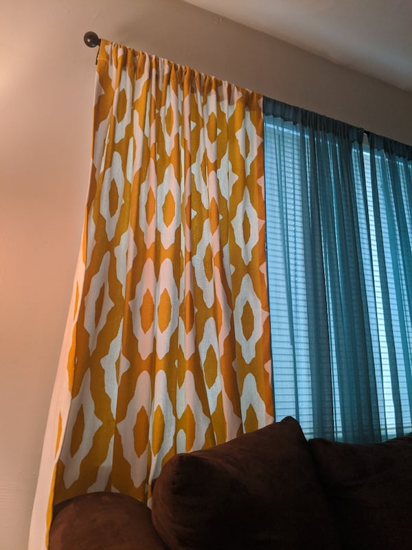 84inch mustard and yellow pattern curtains 0f487662-9a33-4a41-9280-43af0eb85917