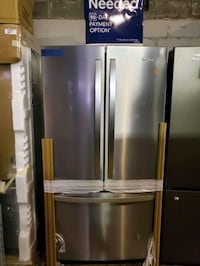 French doors fridge NEW scratch and dent  Baltimore, 21223