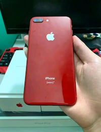 Red iPhone 8plus with box