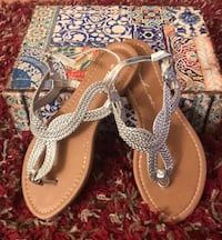 New silver sandals Stafford, 22556
