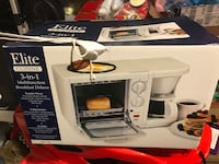 Brand New Elite Cuisin 3 in 1 (oven toaster, coffee maker & griddle Tysons