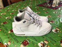 White and silver jordans 5y, feels like size six though Sauquoit, 13456