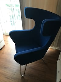 Modrest Anser Modern Blue  Lounge Chair( almost new) Arlington, 22201