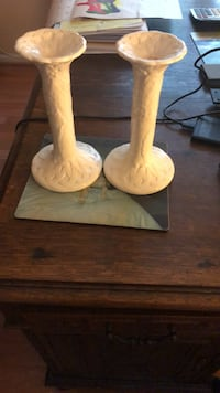 "2 candle holders 9"" tall Silver Spring, 20905"