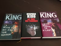Stephen King books x 3 (French) Toronto