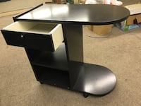 black wooden single pedestal desk Côte-Saint-Luc, H4W 2W6