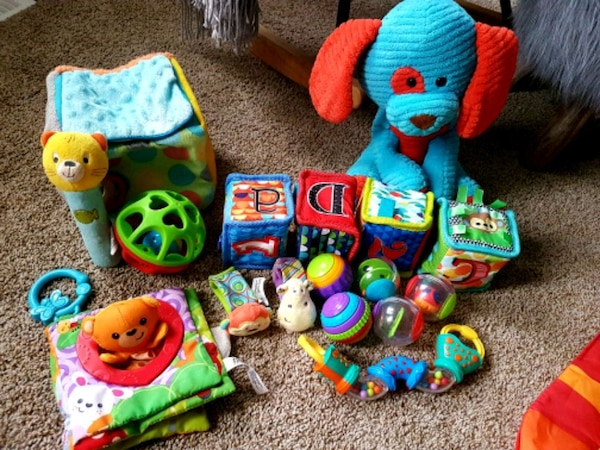 Gently used baby toys