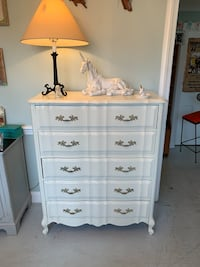 French provincial solid wood white dresser chest of drawers  Kensington, 20895