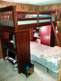 4 piece bunk bed set with desk, drawers and booksh Long Pond, 18334