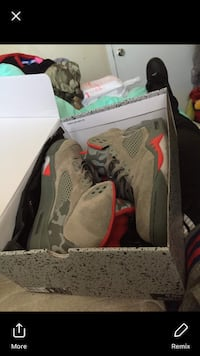Pair of gray air jordan basketball shoes with box. Price is negotiable.  La Marque, 77568