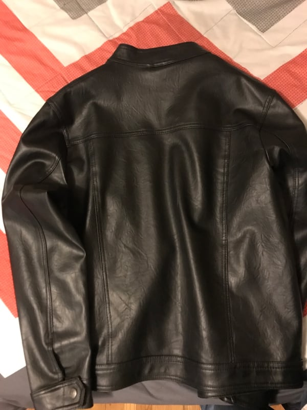 New black fine leather jacket( A)collection 26b300c7-436c-44ad-ad5e-cbdaabd2c6fc