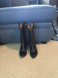 Women's black leather cowboy boots Size 5 Raleigh, 27612