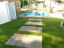 Synthetic Grass and Hardscape