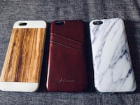 Three like new iPhone6 phone case, the one in the middle is real cow hide Oklahoma City, 73118