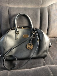 Black michael kors leather 2-way handbag Richmond, 94804