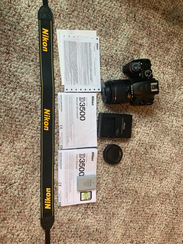 Used Nikon D3500 for sale in Central Point - letgo